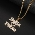 your favorite street food customizable crystal name necklace for men women