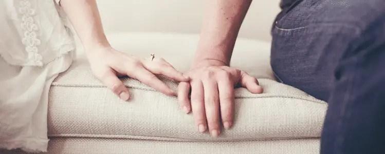 Hands on Sofa