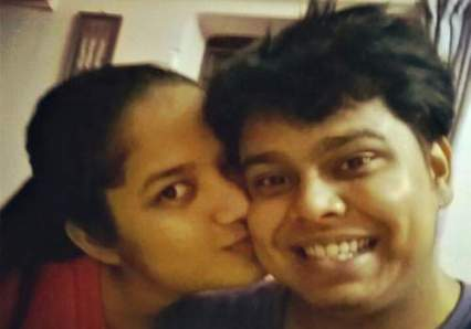 Sreetama with her boyfriend
