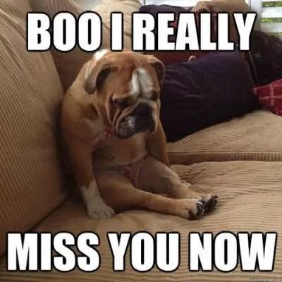 Boo I miss you