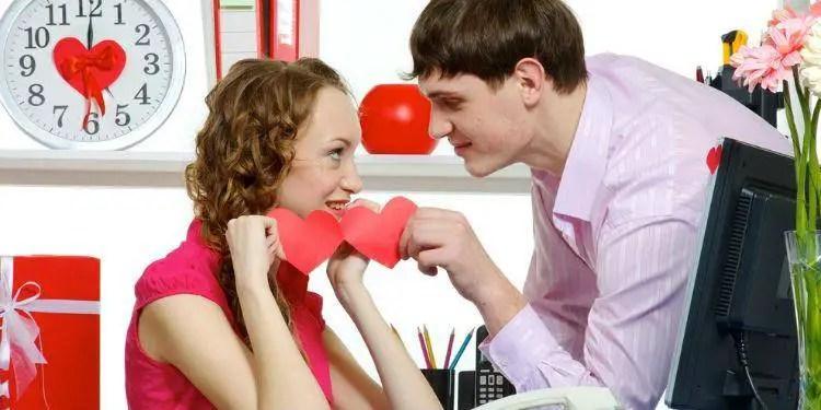 Busy couple romance