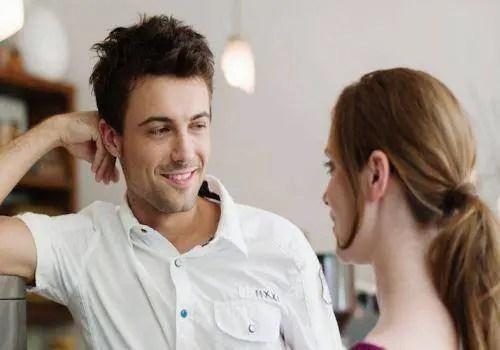 man flirting