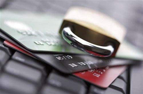 lock on the credit cards