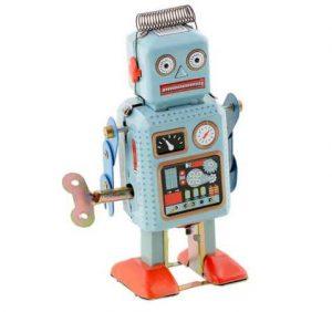 jouet robot mecanique vintage metal a 3