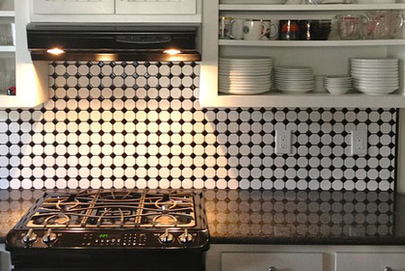 Kitchen Countertop and Tile Backsplash