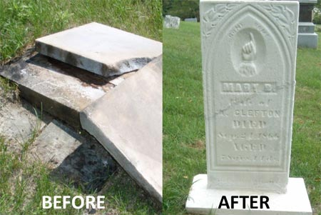 Headstone: Before/After