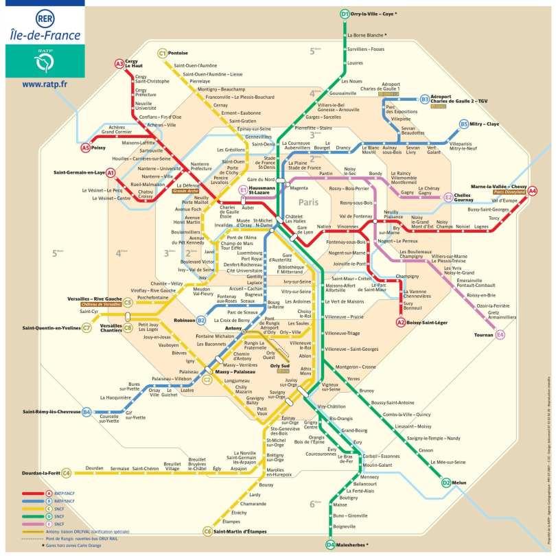Mapa Metro Paris