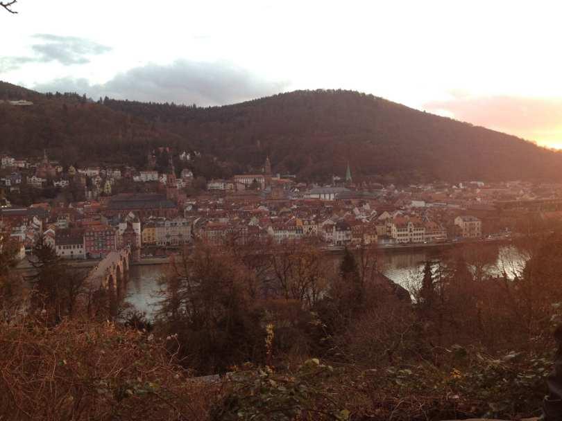 Vista de Heidelberg a partir do caminho do filósofo