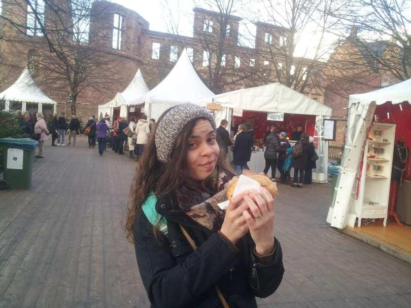 Mercado de Natal do Castelo de Heidelberg na Alemanha