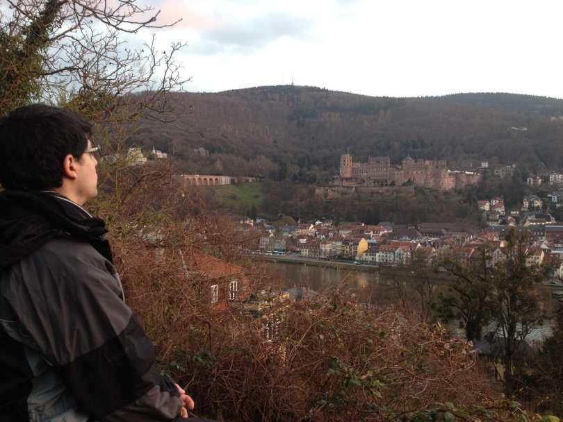 Caminho do filósofo em Heidelberg na Alemanha