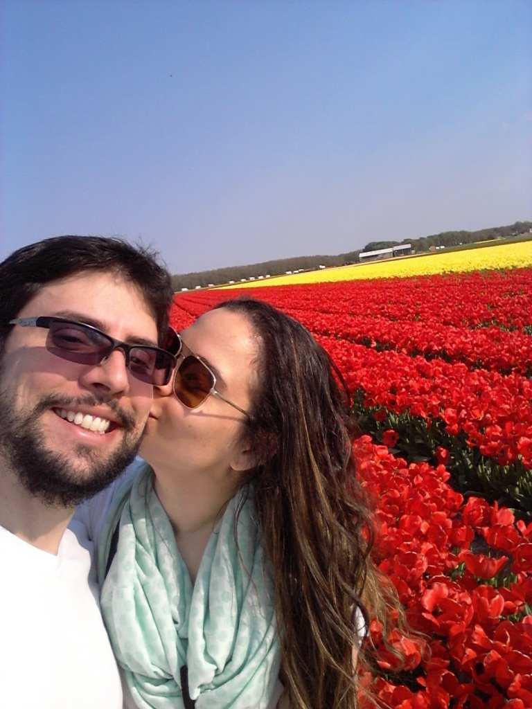 passeio de bicleta campos de tulipas holanda