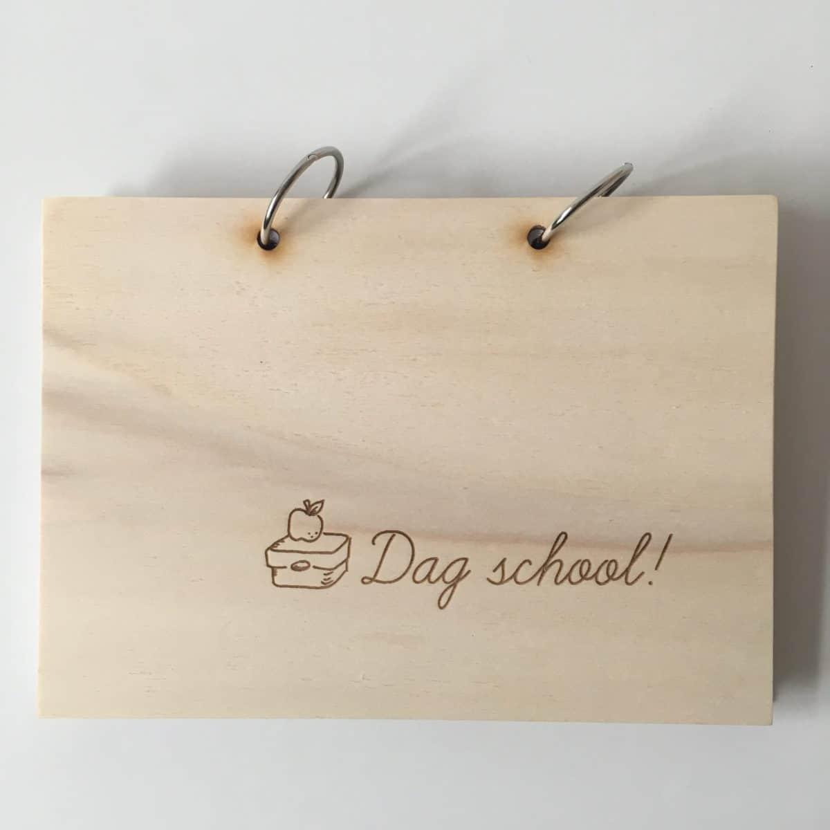 houten dag school boek afscheid groep 8 basisschool