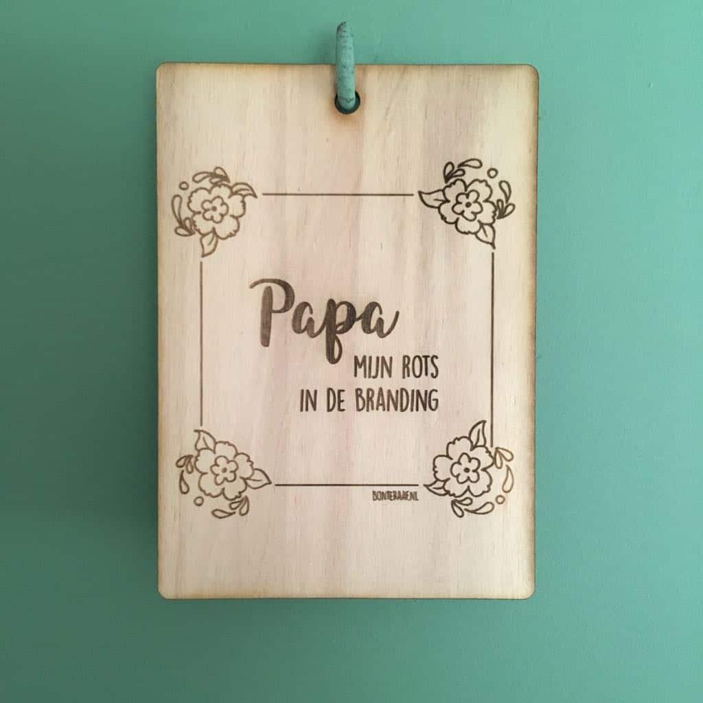 houten kaart papa