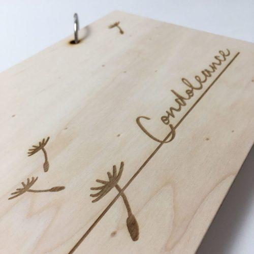 condoleanceboek, persoonlijk, herinnering, condoleanceregister, houten herinneringsboek