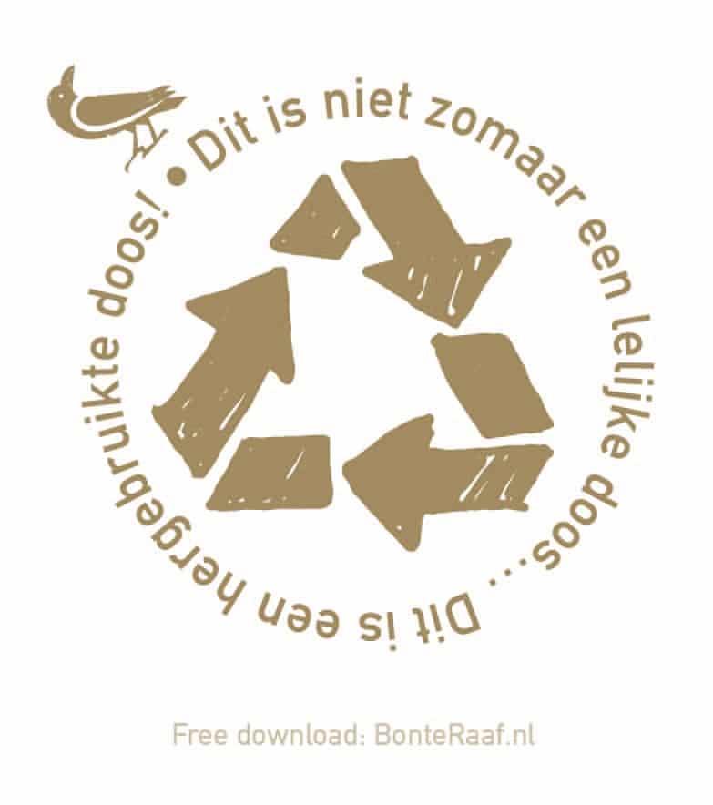 recycle doos sticker