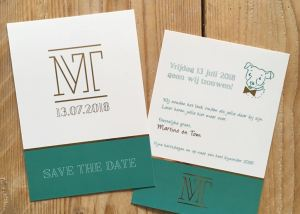 Save the date kaart ontwerp