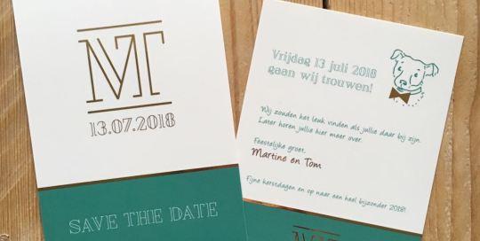 Save the date kaart ontwerp