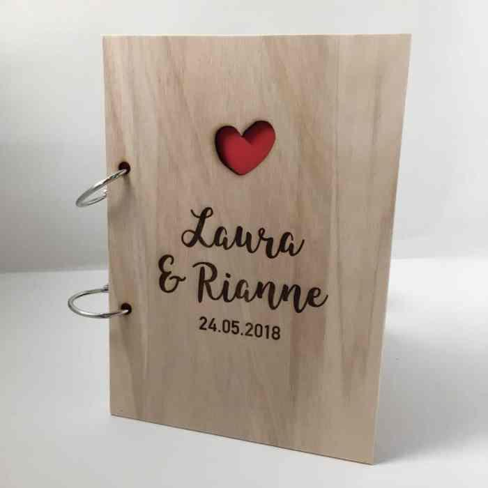 houten gastenboek persoonlijk webshop