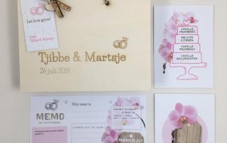trouwbedankjes in huwelijkshuisstijl