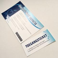 Festivalticket uitnodiging