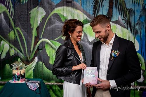 Holografische trouwkaart