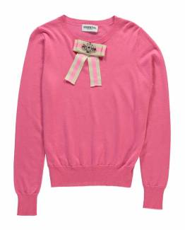 Rereact fancy bow sweater miami pink Essentiel