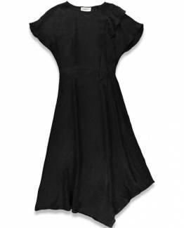 Tito draped midi dress black Essentiel