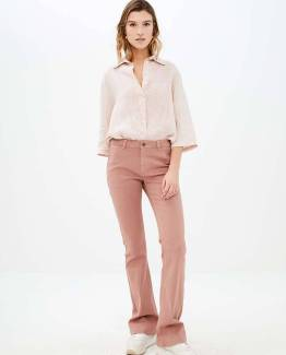 Bodil linen blouse blush By-Bar