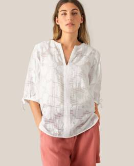 Mila ss blouse white alyssum Second Female