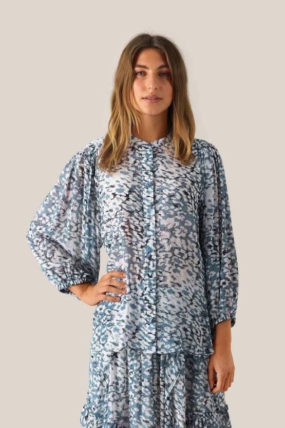Clouds shirt faded denim Second Female