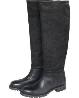 Mixed cow leather boot black Summum