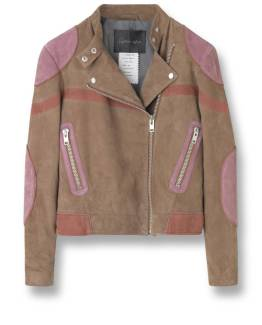 Suede jacket goat rose taupe stella nova