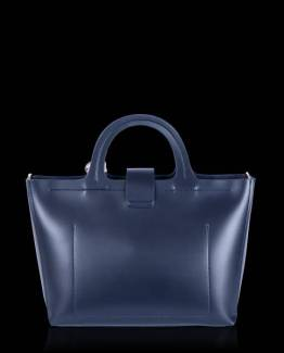 Iris top handle bag midnight blue Inyati