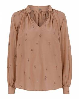 Annsofie shirt with embroidery tan Gustav