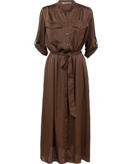 Dress silky touch chocolate Summum Woman