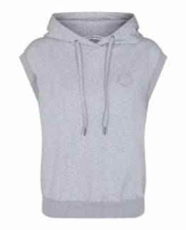 Rush hoodie vest light grey Co'Couture