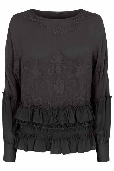 Feri embroidered anglaise shirt raven Gustav