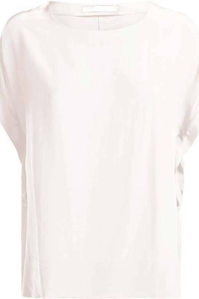 Top short sleeves fluid viscose shell Summum