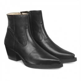 Ankle boot leather black Angelus