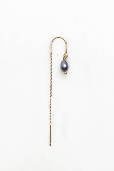 Long chain grey pearl By Nouck