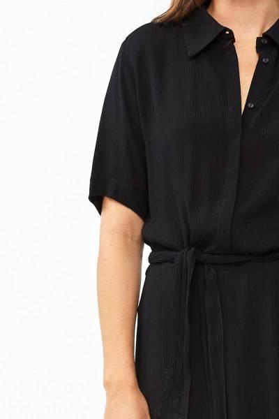 Liz crinkle dress black By-Bar Amsterdam