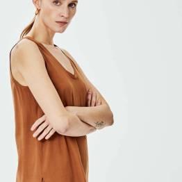 Xandra top choco Knit-ted