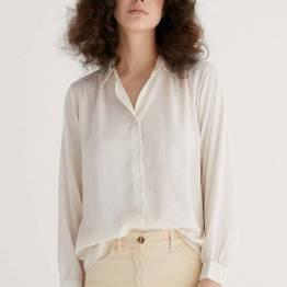 Techno silk blouse off white Zenggi