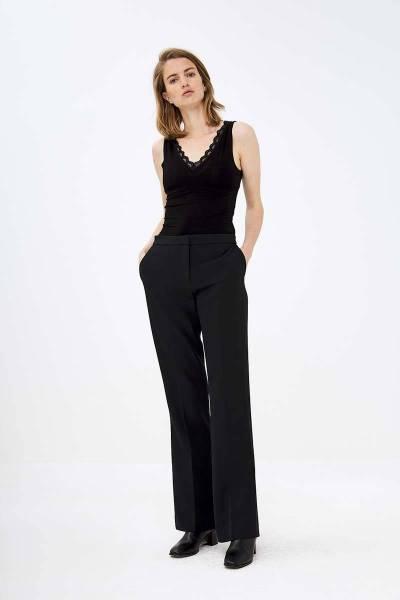 Lace singlet black By-Bar