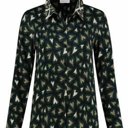 Mila heartbeat black blouse Pom Amsterdam