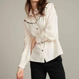 Ivory ecru blouse Pom Amsterdam