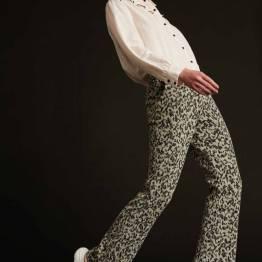 Kate khaki green shimmer pants Pom Amsterdam
