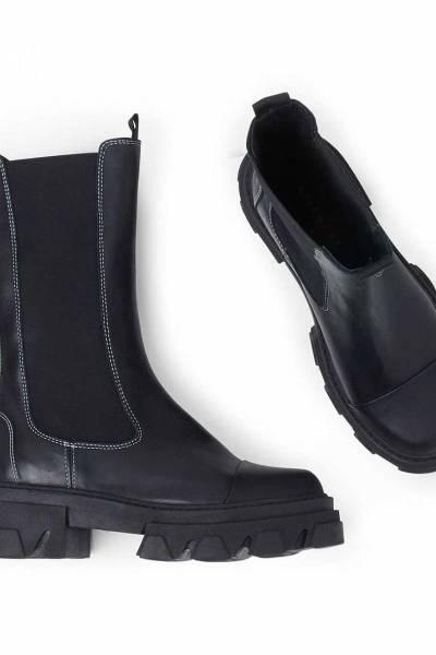 Teresa leather/rubber black Pavement