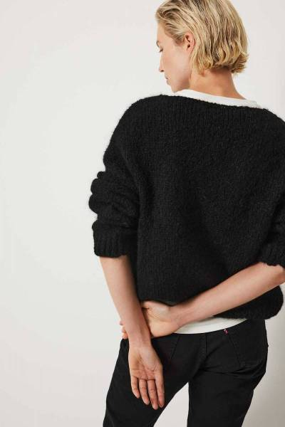 Begonia pullover black Knit-ted