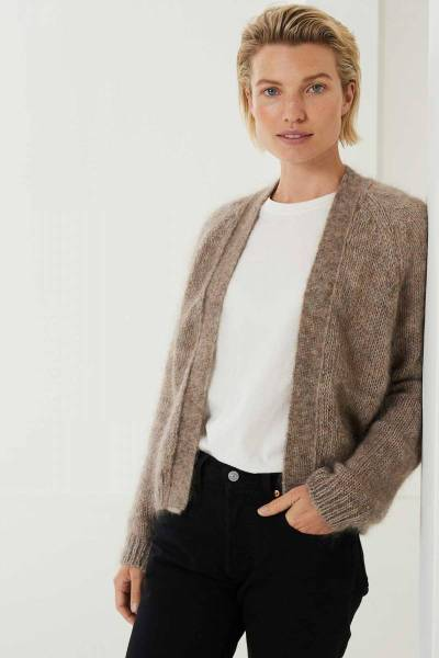 Halley cardigan mink Knit-ted